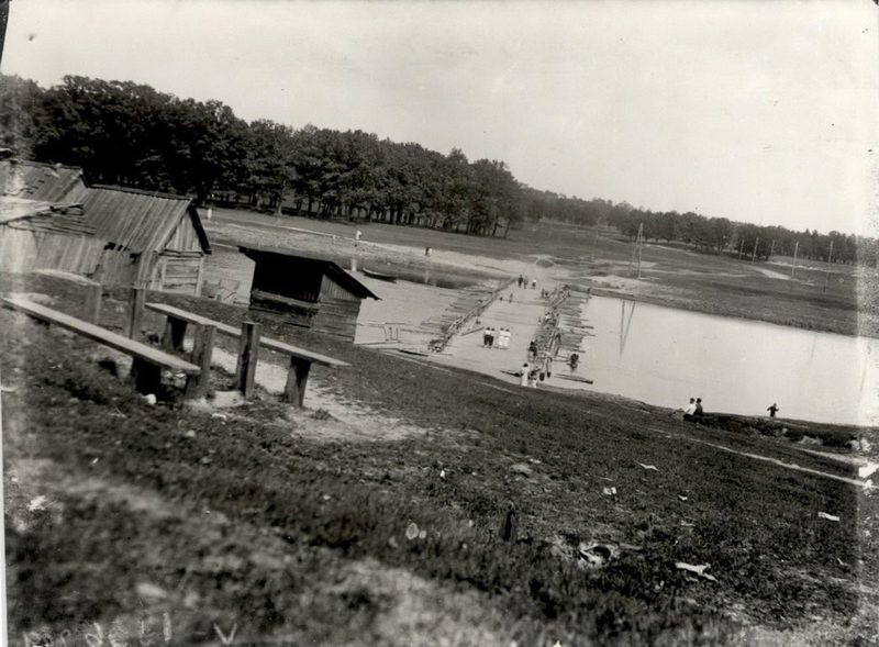 """Мост в роще """"Соловьи"""". Фото 1936 г."""
