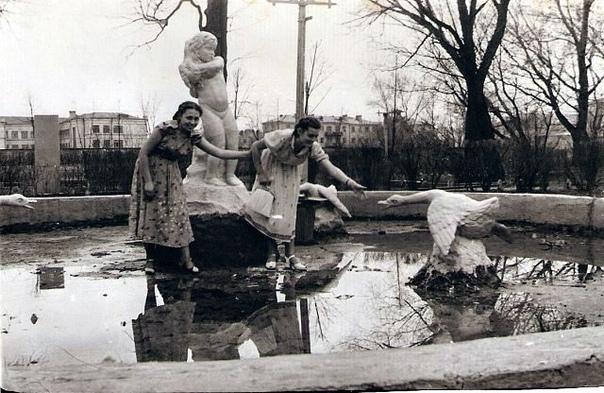 Городской парк (сейчас парк Толстого) 1954 год